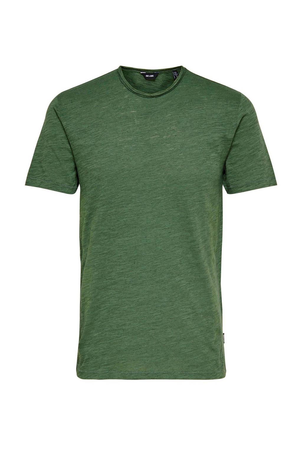 Only & Sons Albert T-shirt, Groen