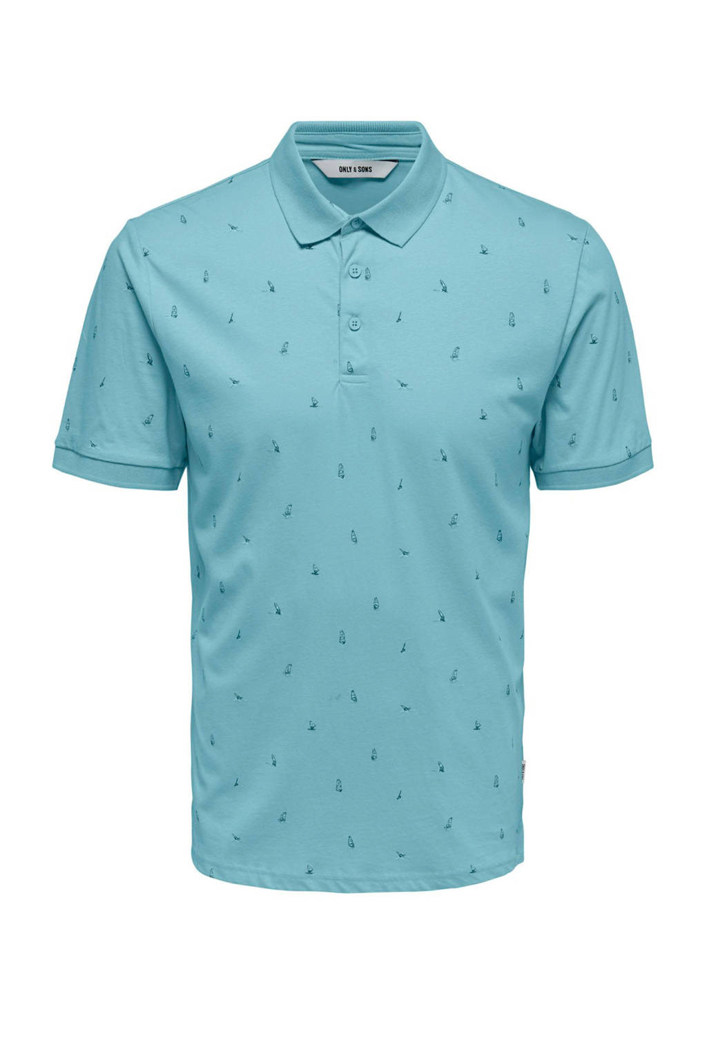 Only & Sons polo, Lichtblauw
