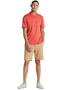 ONLY & SONS regular fit polo met all over print roze, Roze