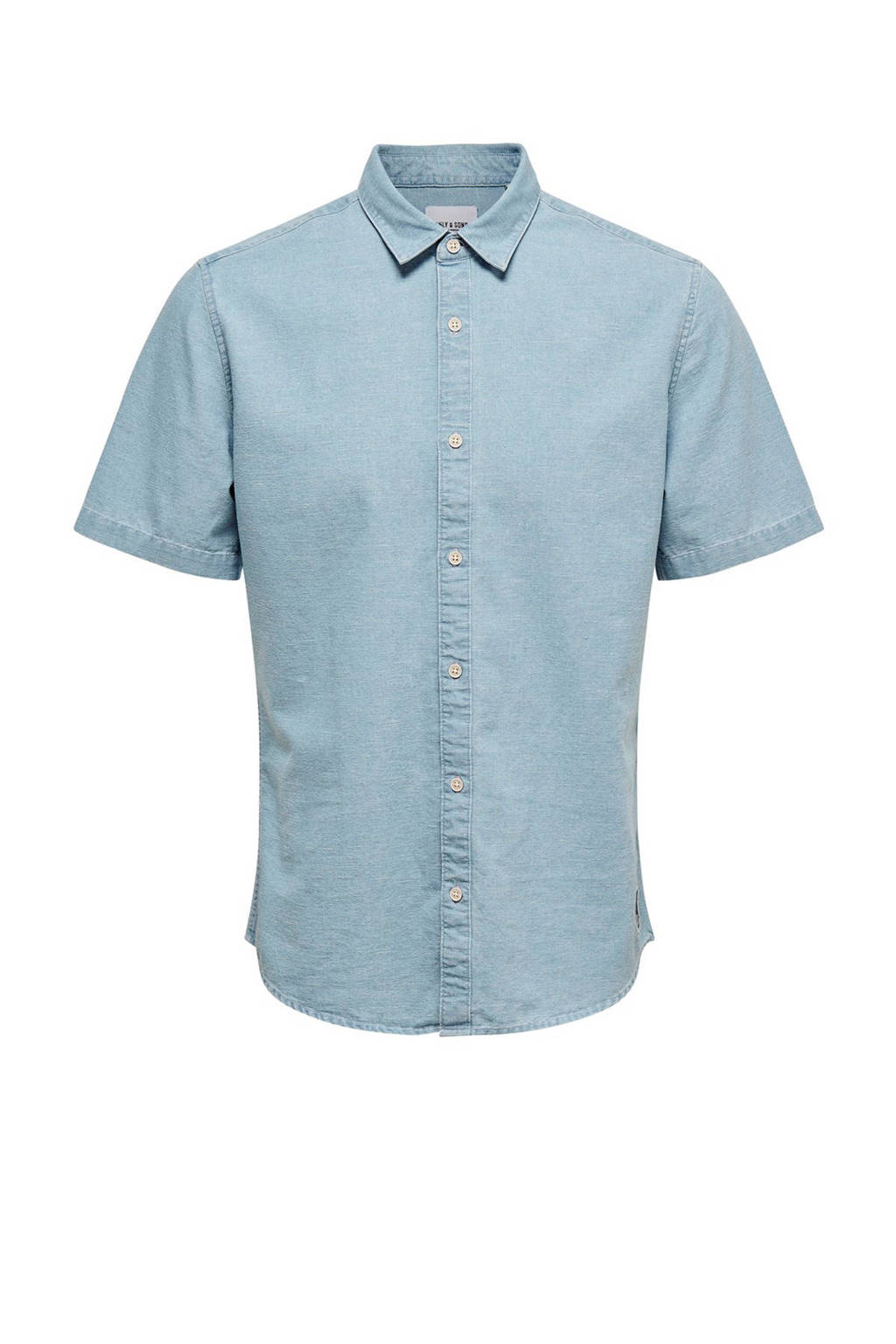 Only & Sons slim fit overhemd, Lichtblauw