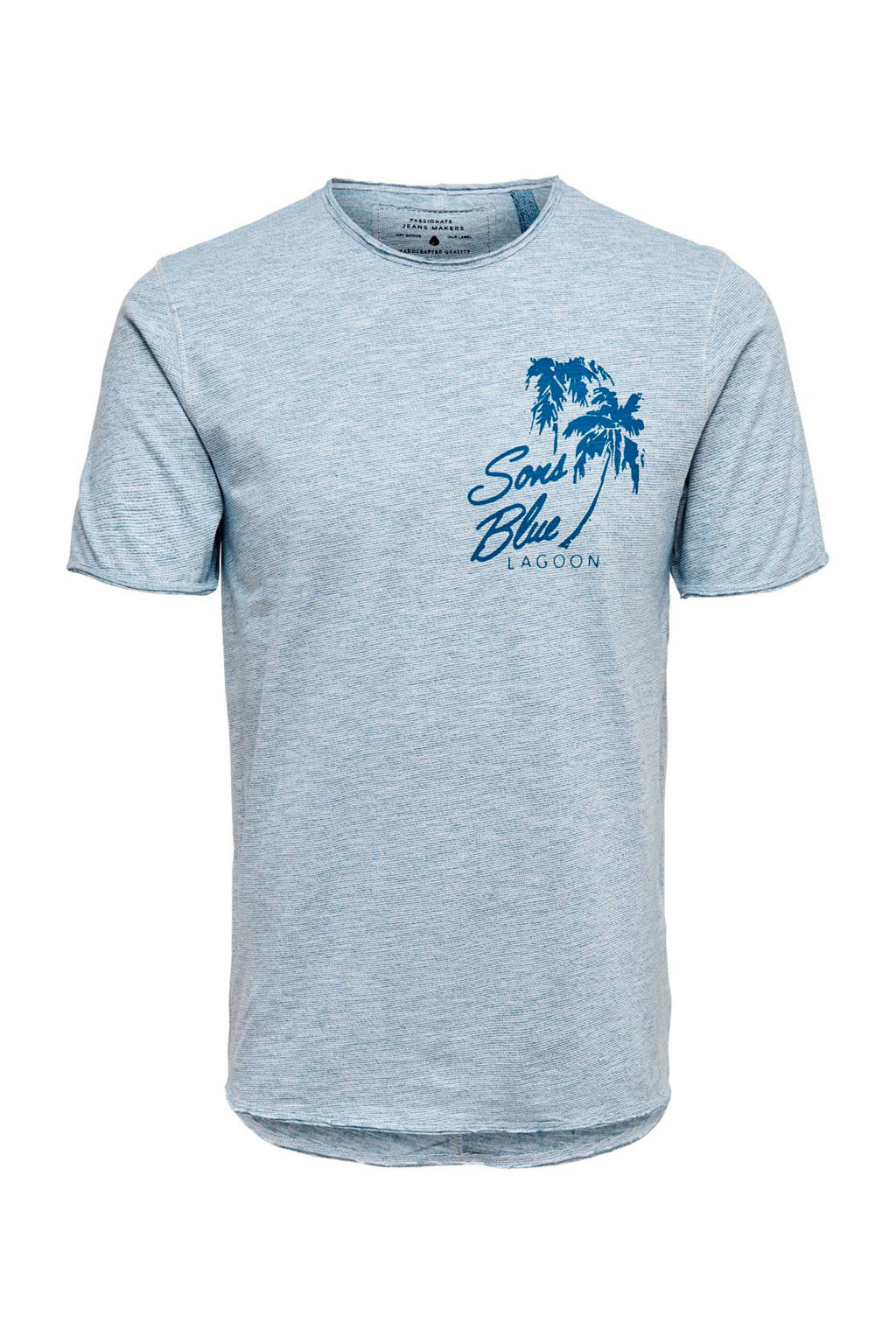 Only & Sons T-shirt blauw, Blauw