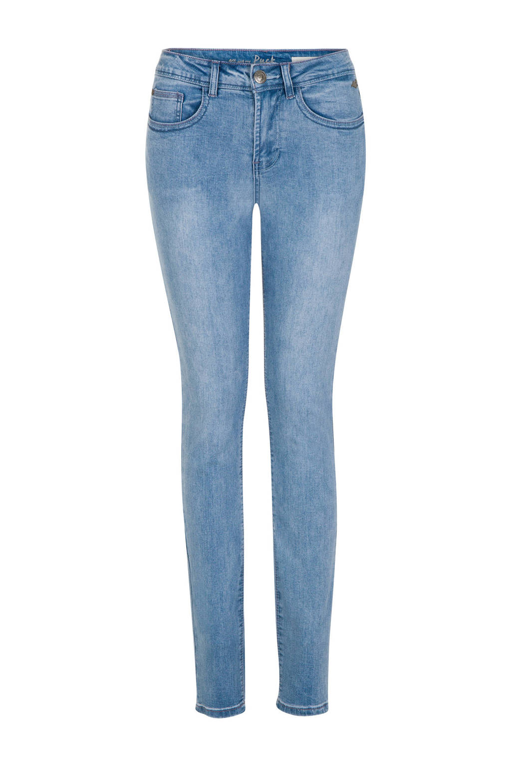 Miss Etam Regulier push up slim fit jeans 32 inch, Blauw