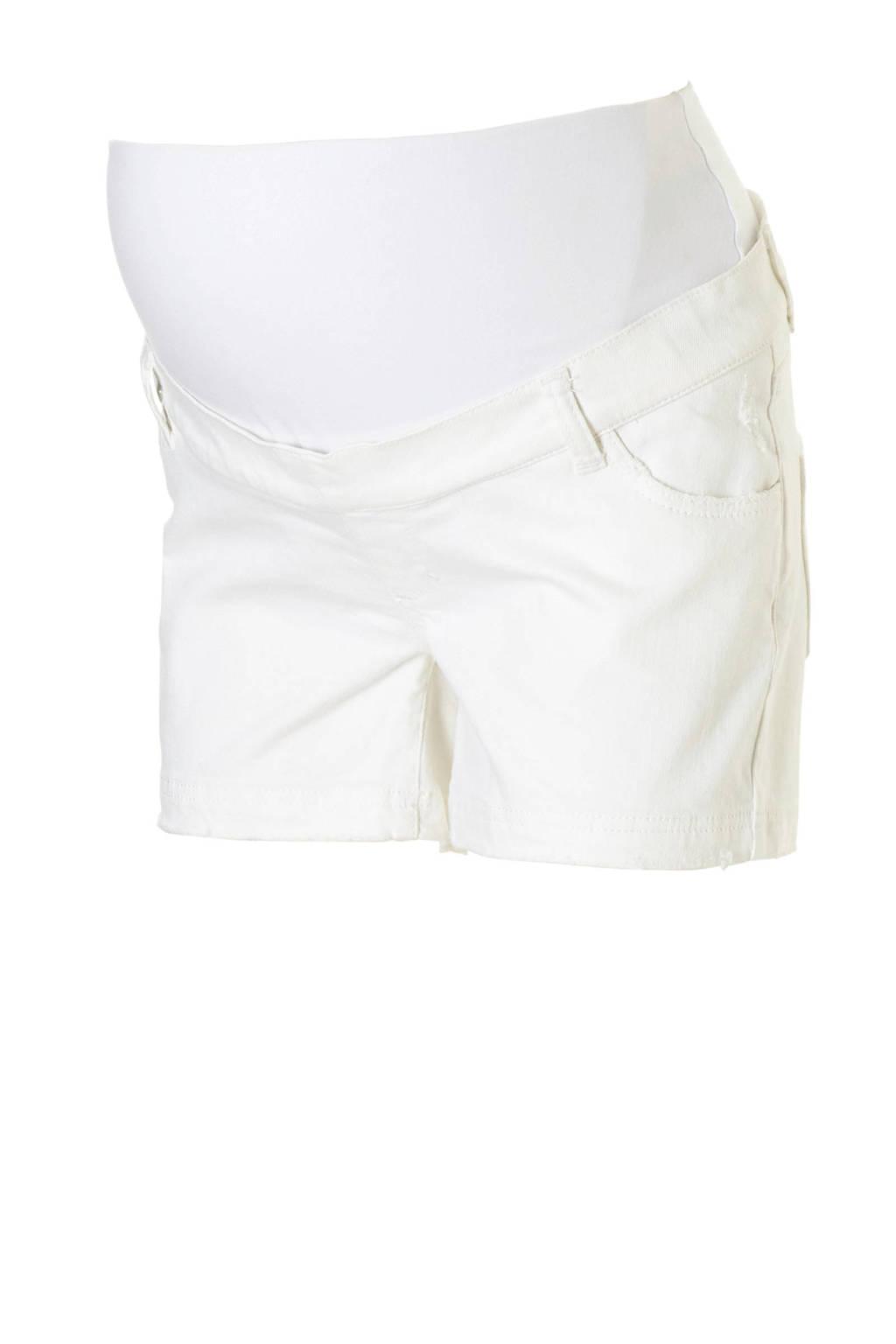GeBe Maternity zwangerschaps jeans short Dimisa wit, Wit
