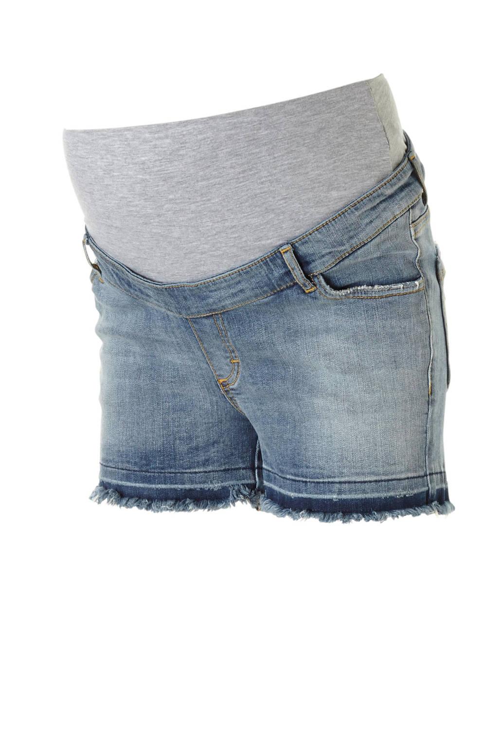 GeBe Maternity zwangerschaps jeans short Paloma, Denim blauw