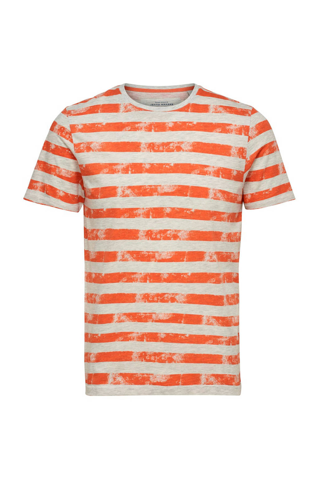 Only & Sons slim fit T-shirt met strepen, Rood