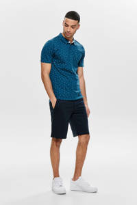 ONLY & SONS regular fit bermuda Mark donkerblauw, Donkerblauw