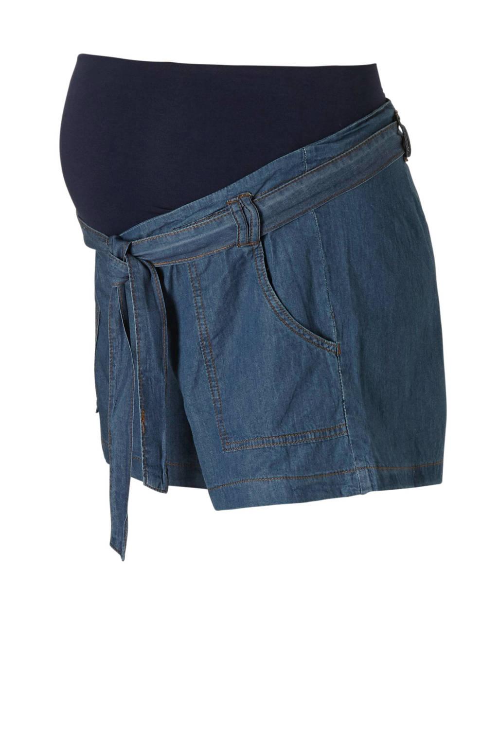 ohma! zwangerschaps jeans short, Dark denim