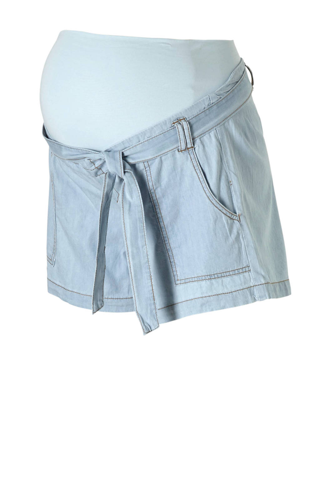 ohma! zwangerschaps jeans short, Light denim