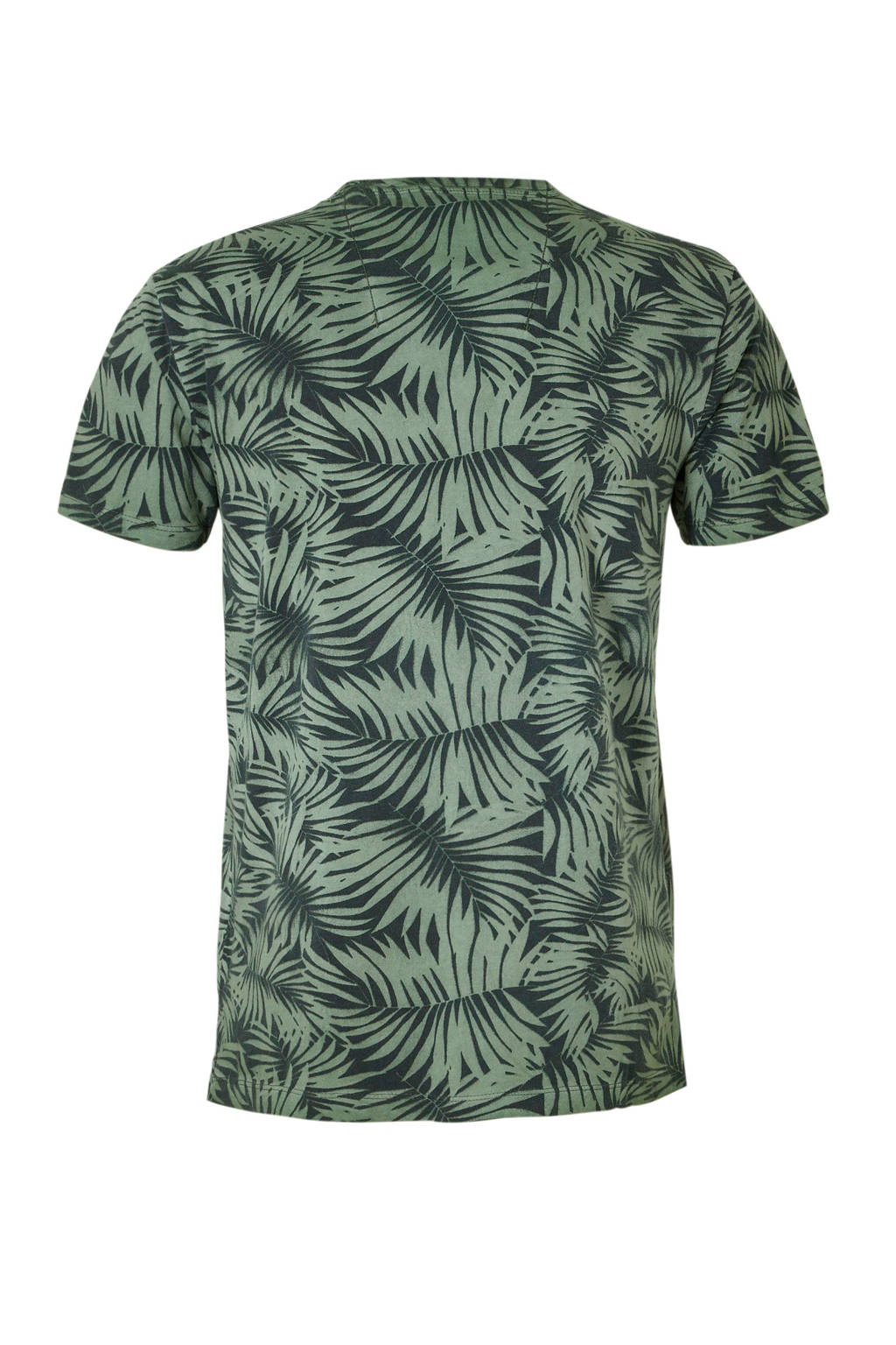 Garcia T-shirt met print donkergroen, Donkergroen/zwart
