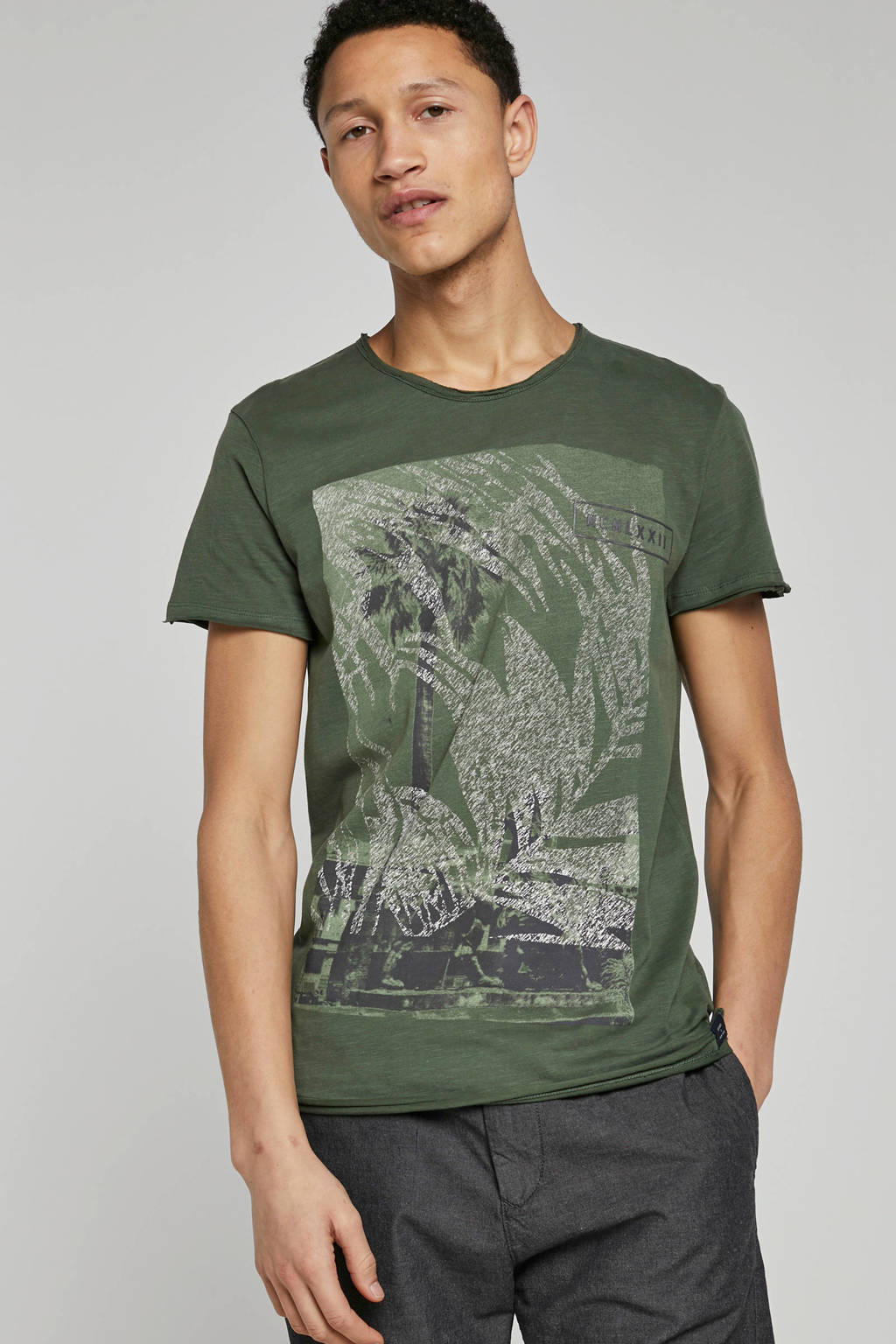 Garcia T-shirt met print groen, Groen