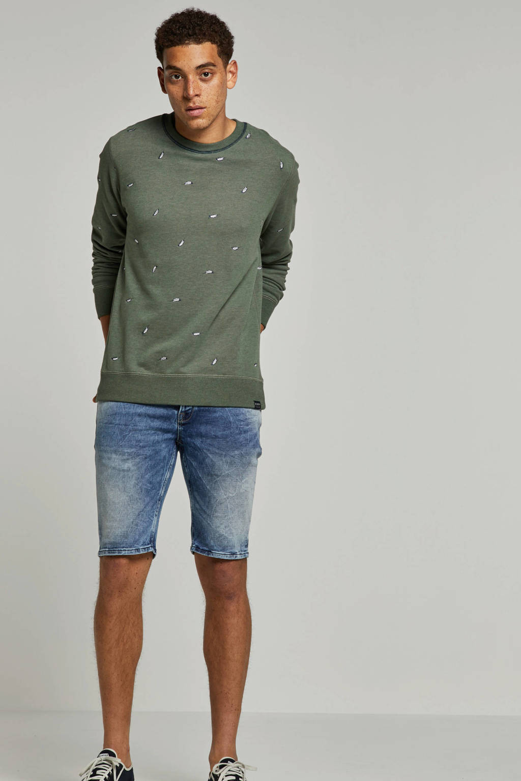 Garcia slim fit jeans short, Blue denim