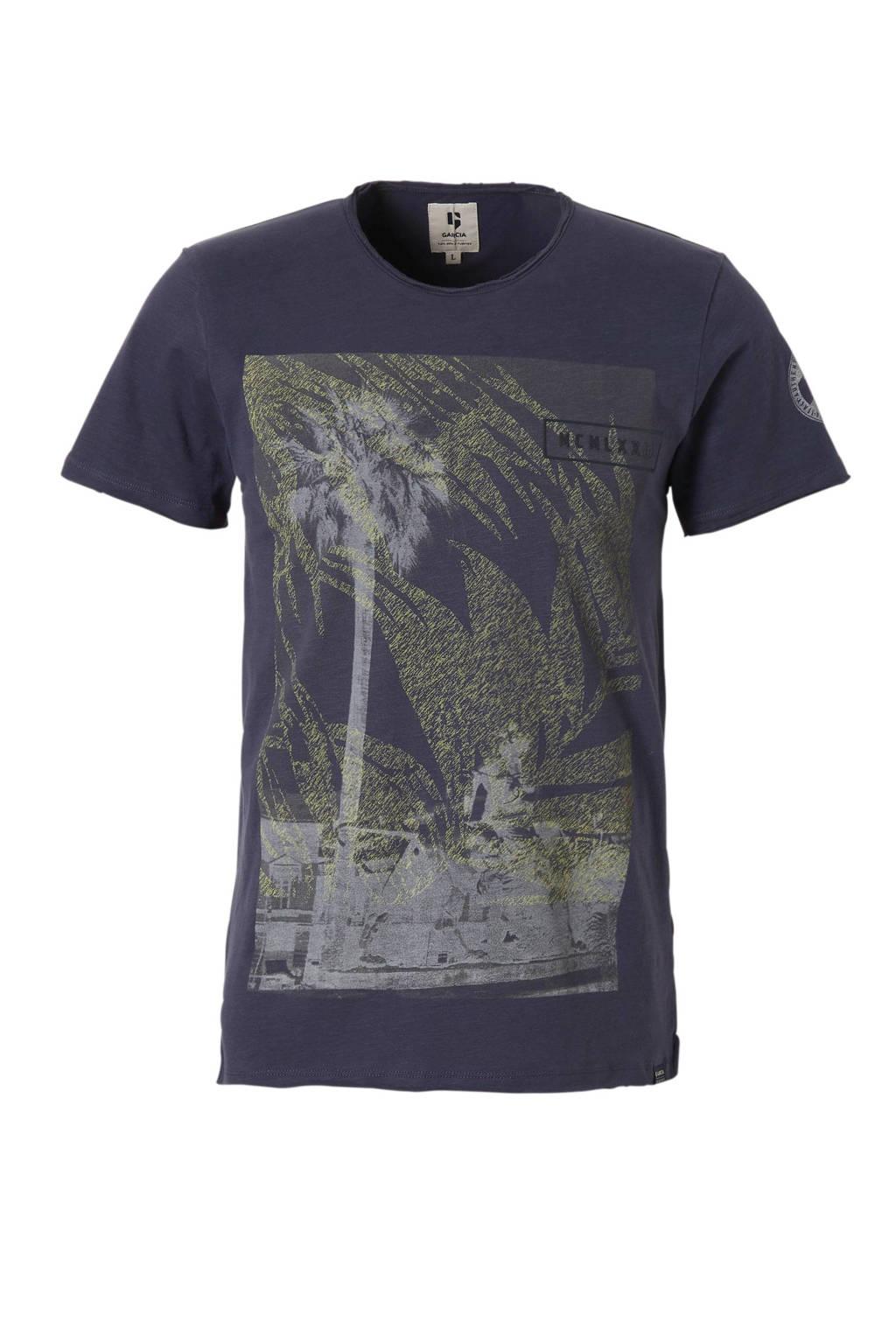 Garcia T-shirt met print marine, Marine