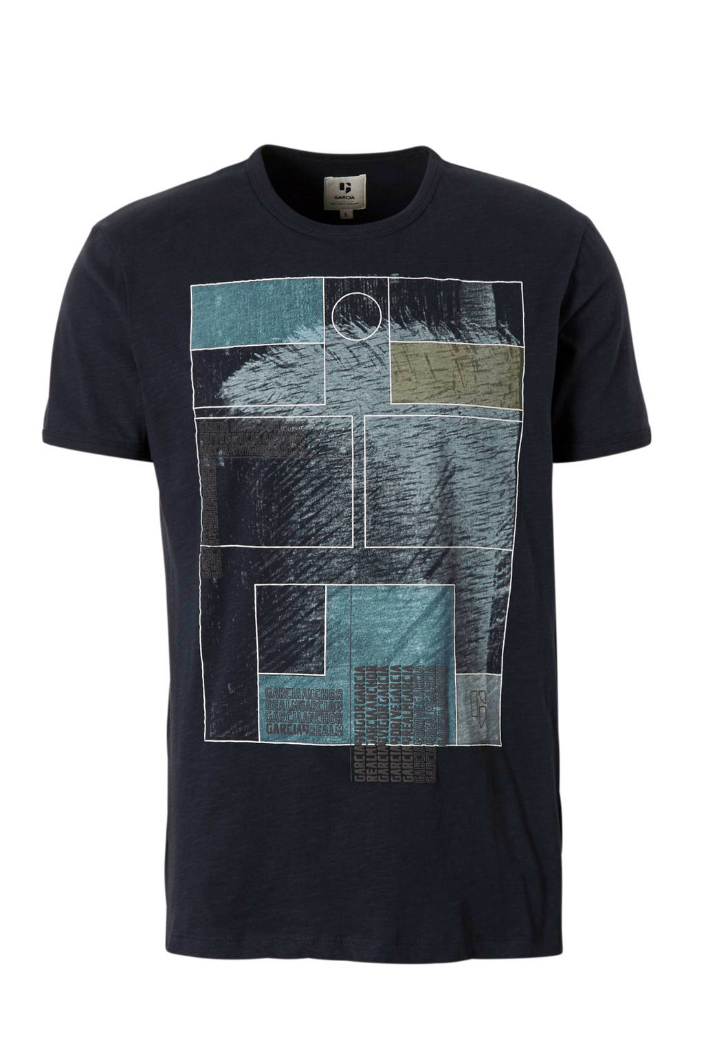 Garcia T-shirt, Zwart/multi