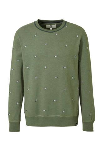 gemêleerde sweater met borduursels