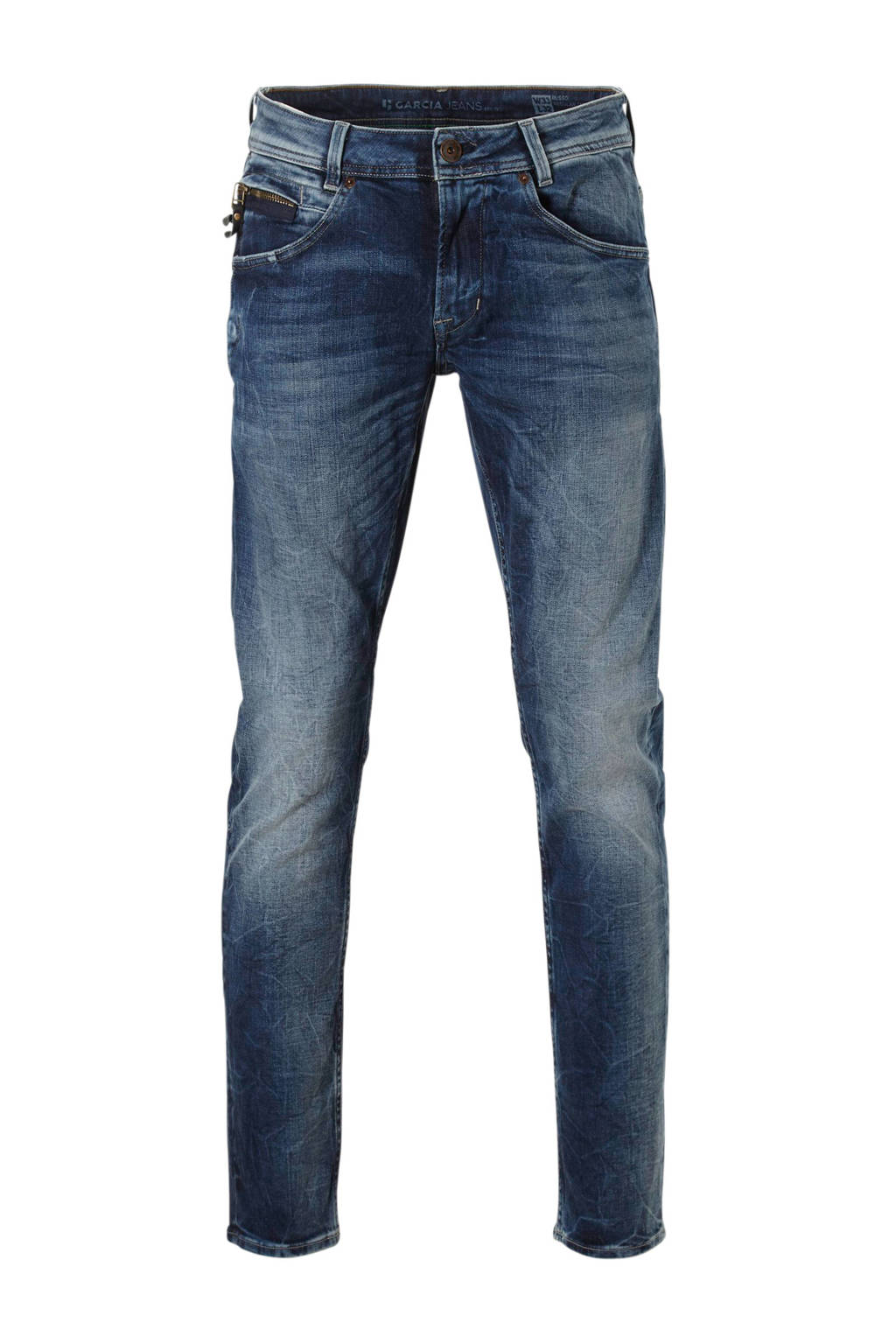 Garcia  tapered tapered fit jeans, Blauw
