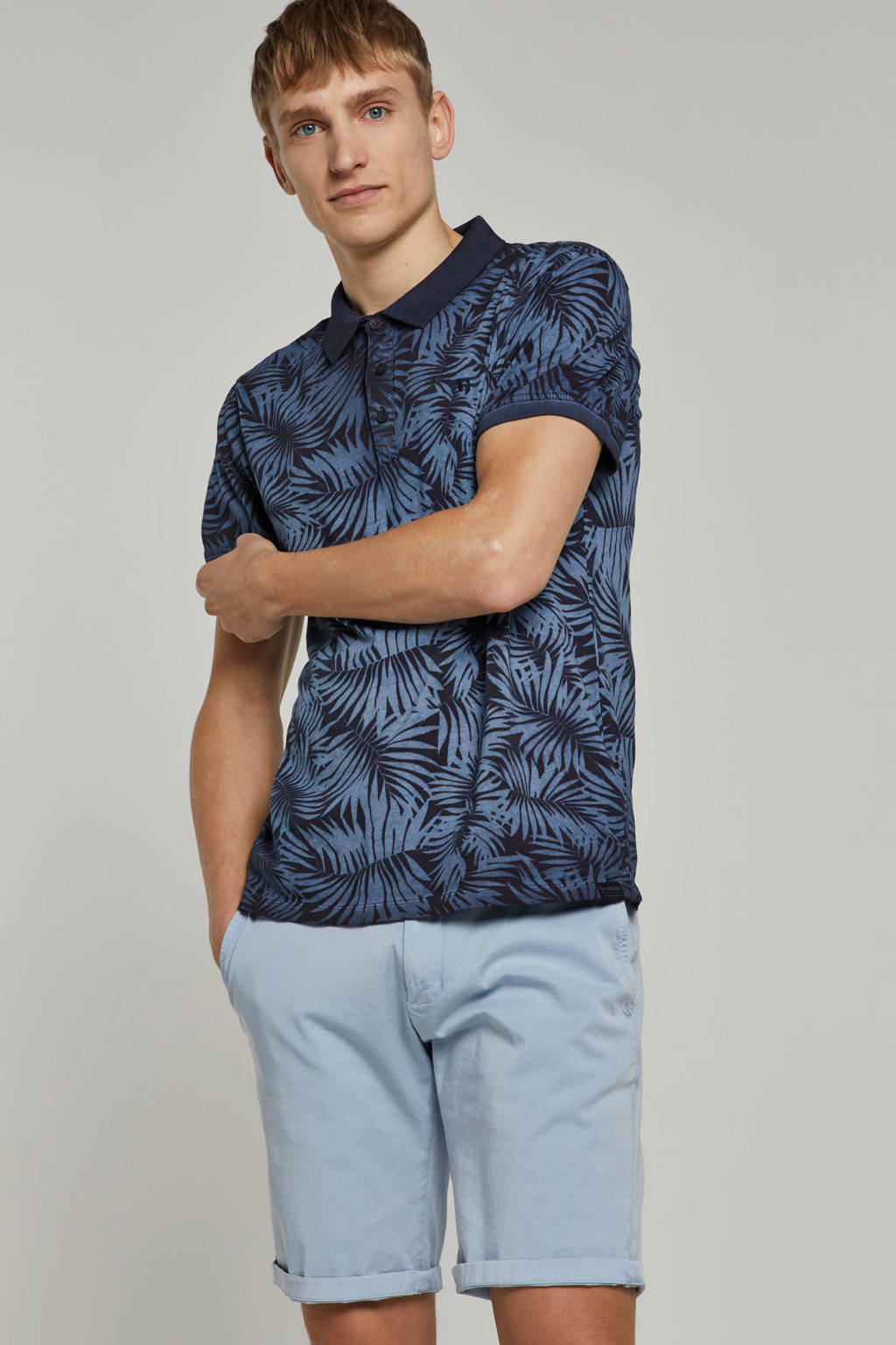 Garcia regular fit polo met print marine, Marine
