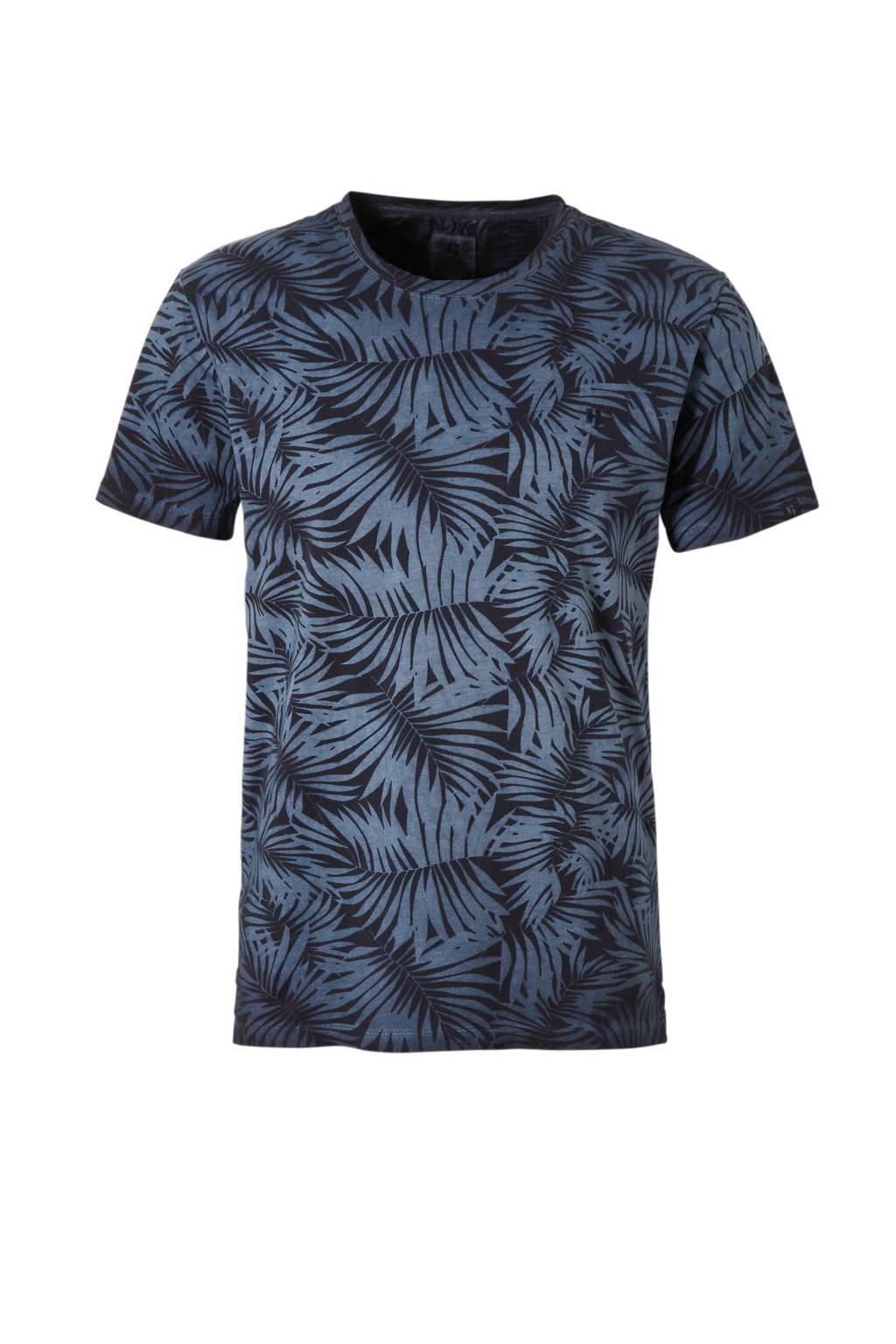 Garcia T-shirt met print, Blauw