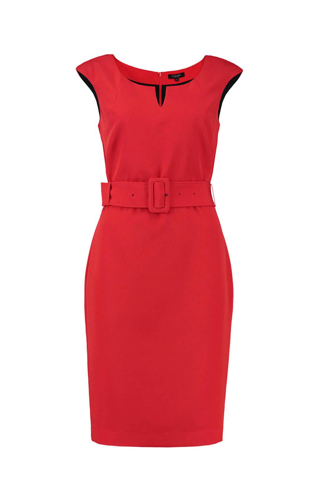 Claudia Sträter jurk rood, Rood