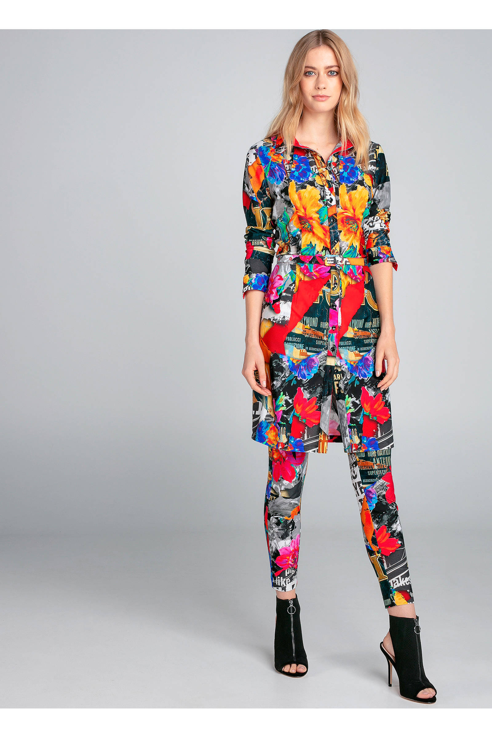 allover print Sträter Claudia blousejurk met St0xCw