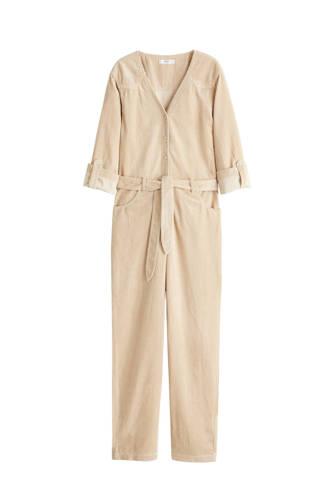 corduroy jumpsuit beige