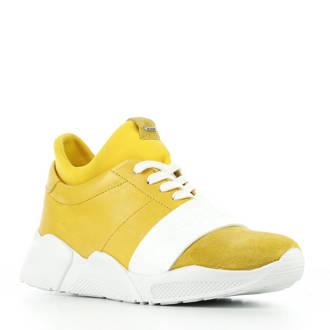 leren sneakers zwart/wit