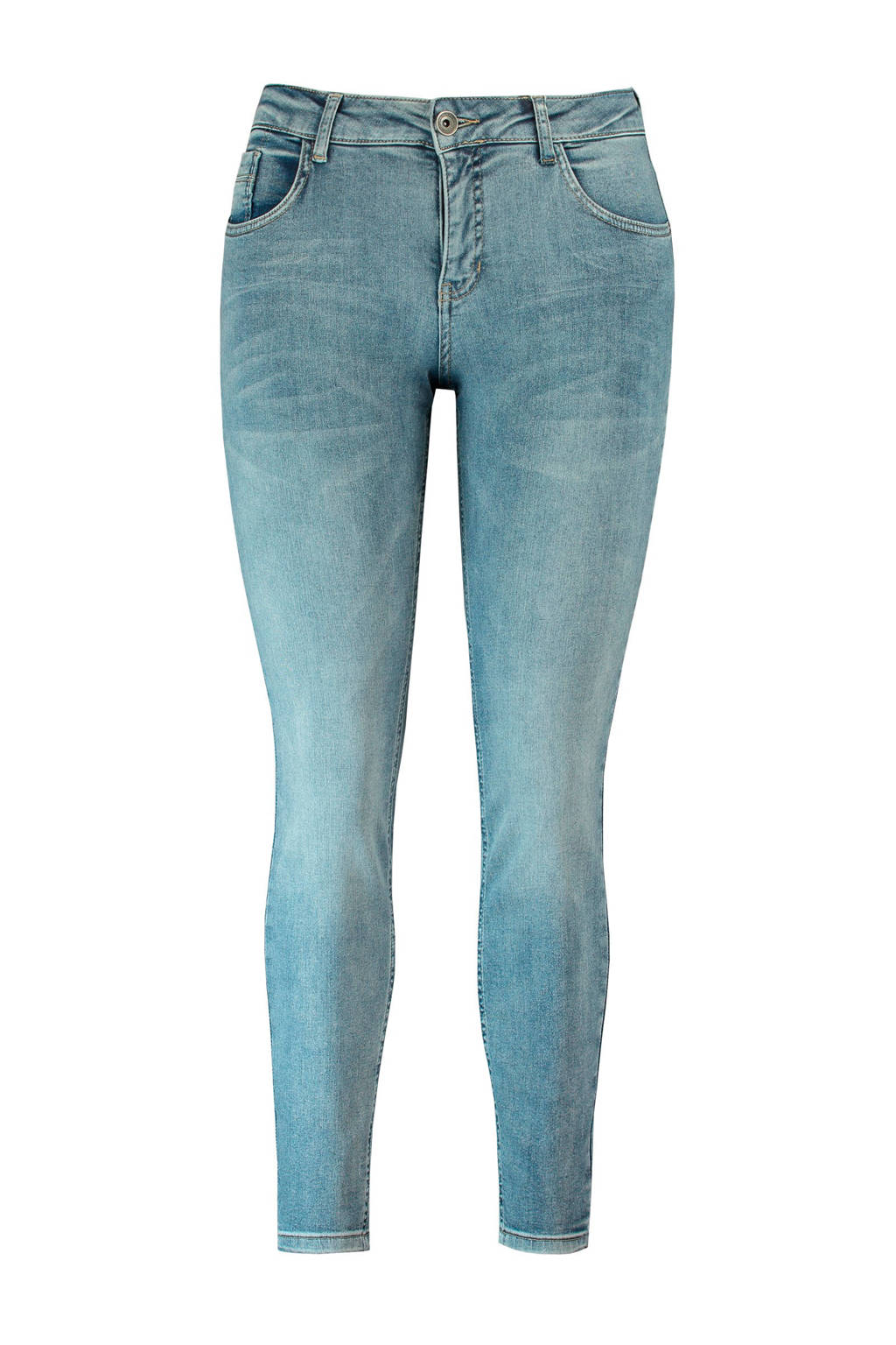 MS Mode slim fit jeans blauw, Blauw