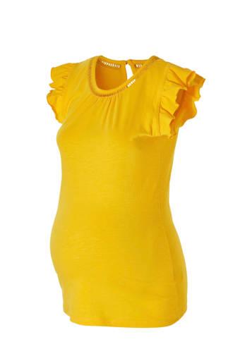 zwangerschaps T-shirt geel