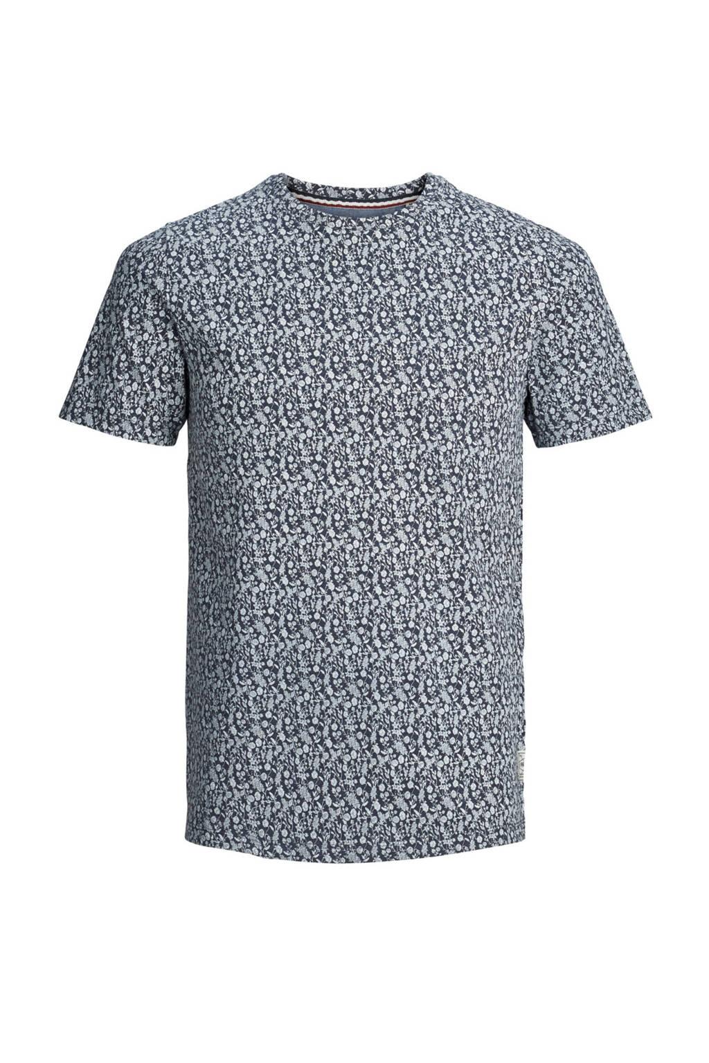 PRODUKT T-shirt met print blauw, Blauw/grijs