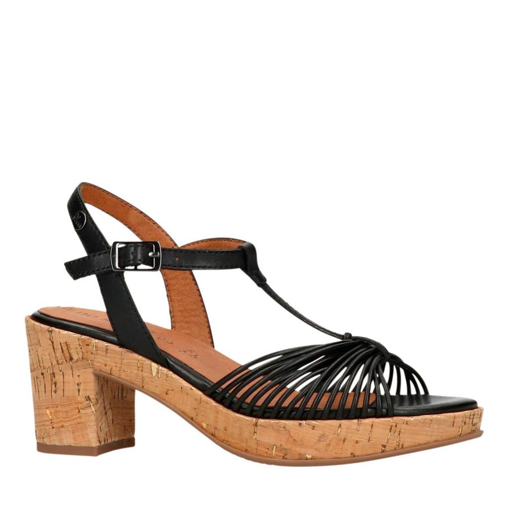 No Stress sandalettes zwart, Zwart