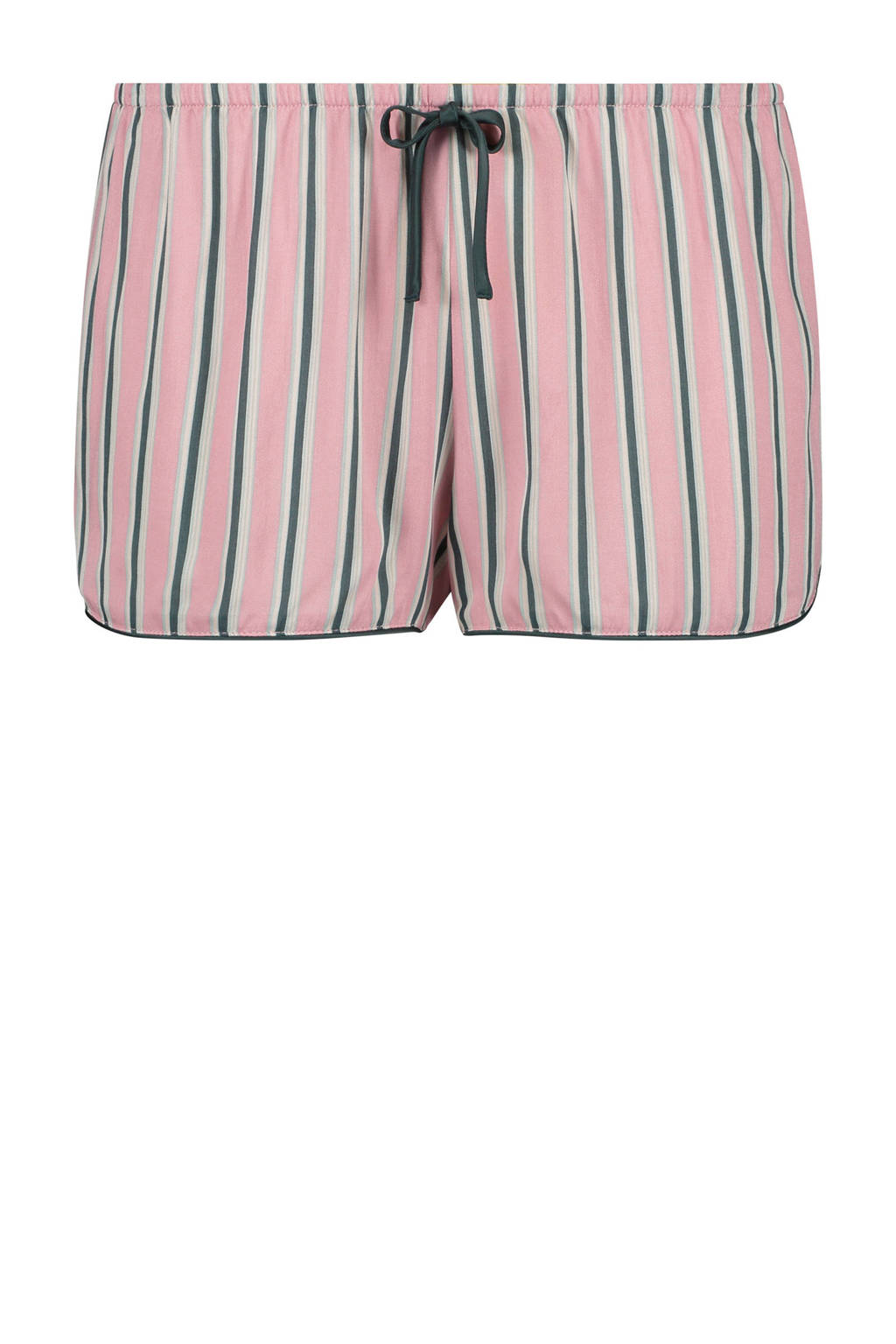 Hunkemöller pyjamashort met all over streepprint roze, Roze