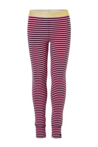 gestreepte legging Brechtje roze/blauw