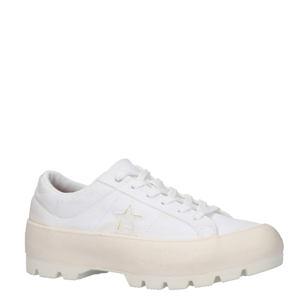 Converse  One Star Lugged plateau sneakers wit, Wit