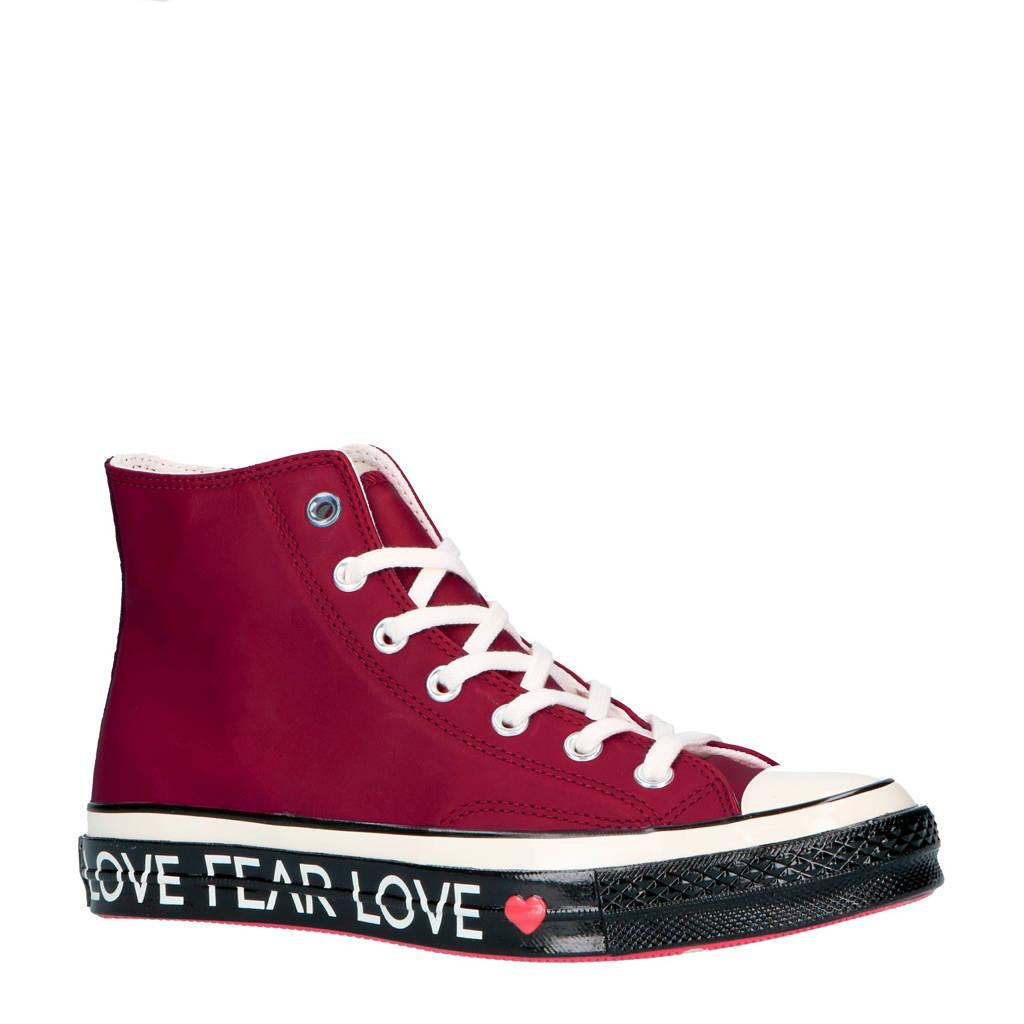 Converse Chuck 70 Hi leren sneakers, Rood/wit/zwart
