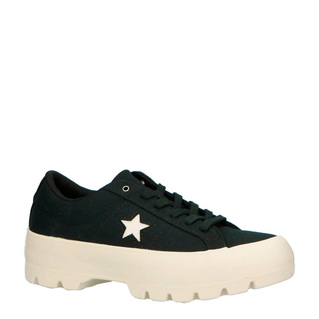 Converse   One Star Lugged plateau sneakers zwart, Zwart