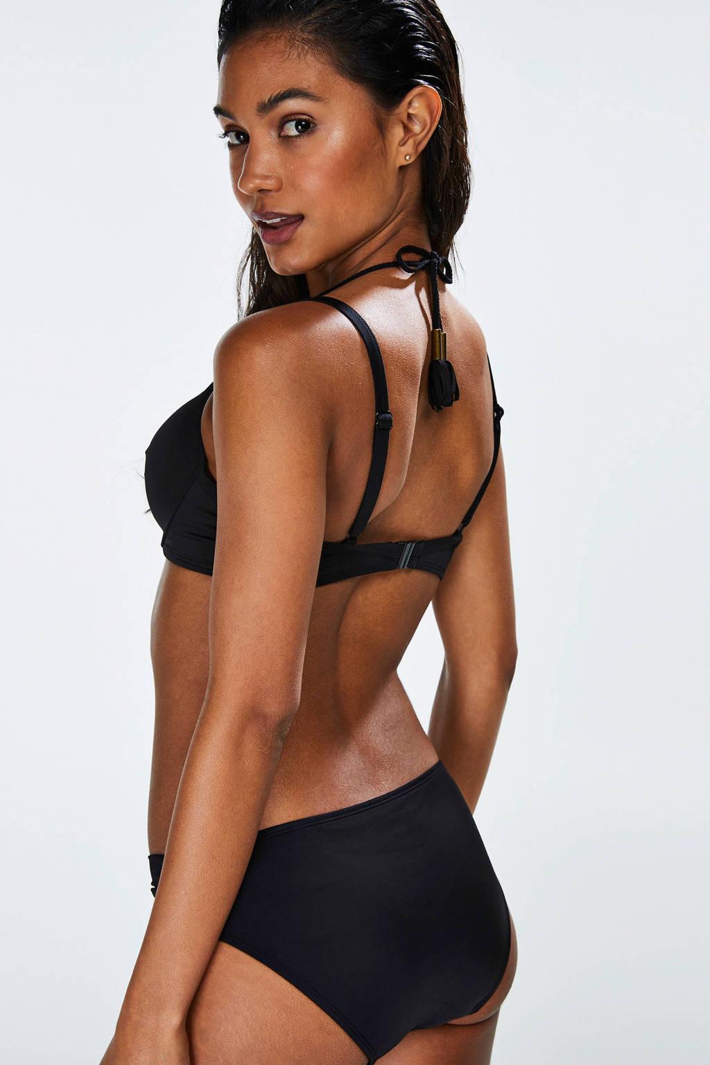 Hunkemöller beugel bikinitop zwart, Zwart