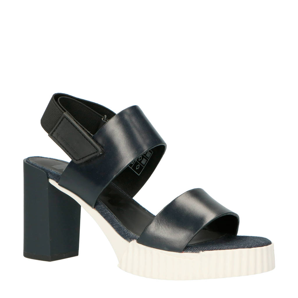 G-Star RAW Rackam Core Denim sandelen, Donkerblauw/zwart/wit