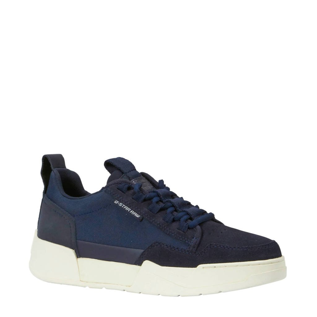 G-Star RAW Rackam Yard II Low WMN suède sneakers blauw, Blauw/wit