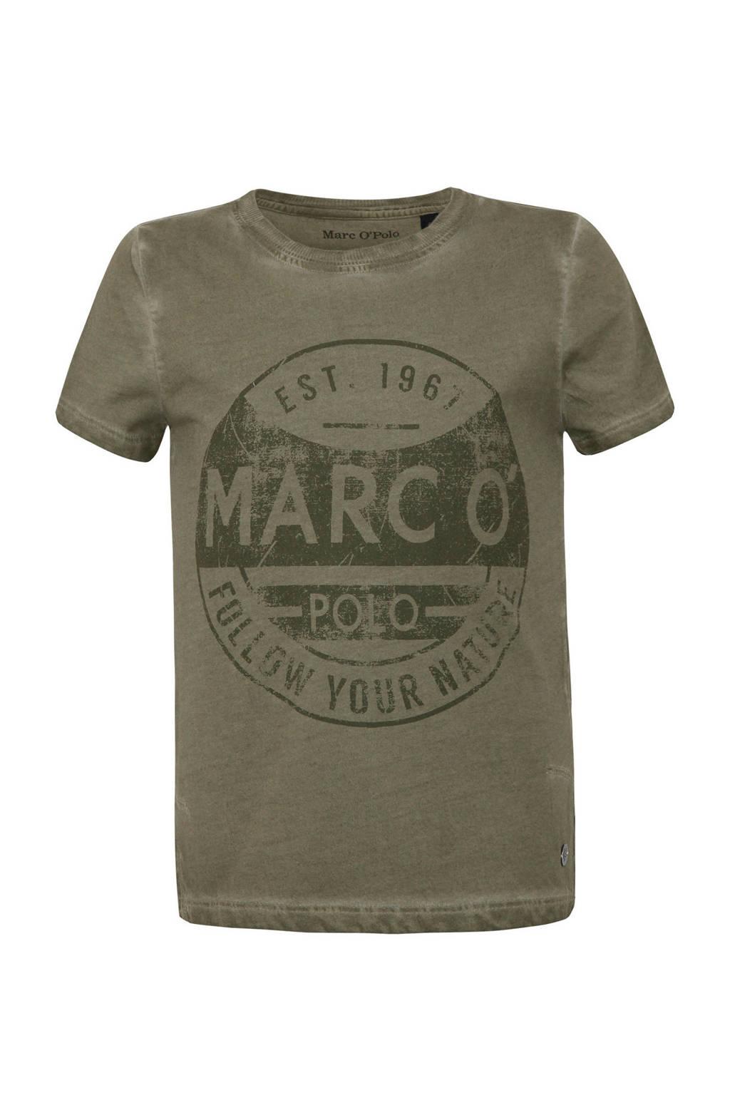 Marc O'Polo T-shirt met printopdruk olijfgroen, Olijfgroen