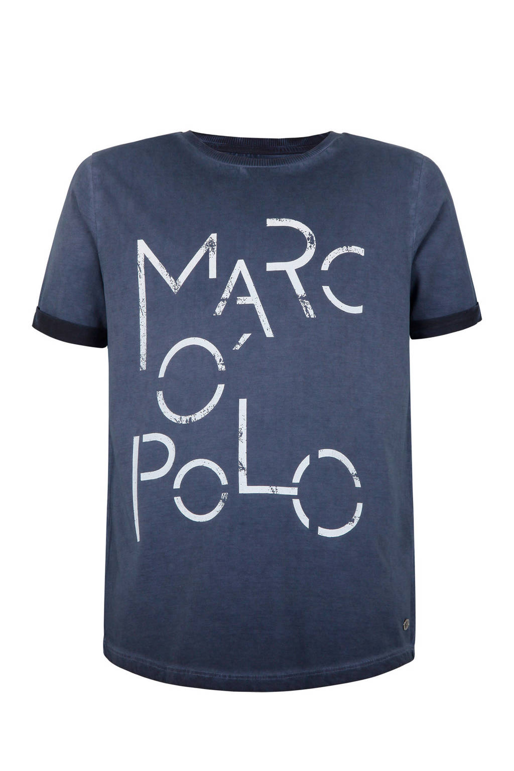 Marc O'Polo T-shirt met logo blauw, Donkerblauw
