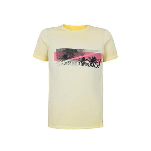 Marc O'Polo T-shirt met printopdruk lichtgeel