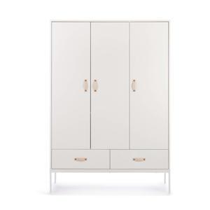 3-deurs kledingkast wit Bliss