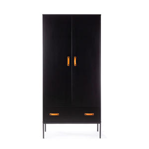 2-deurs kledingkast zwart Bliss