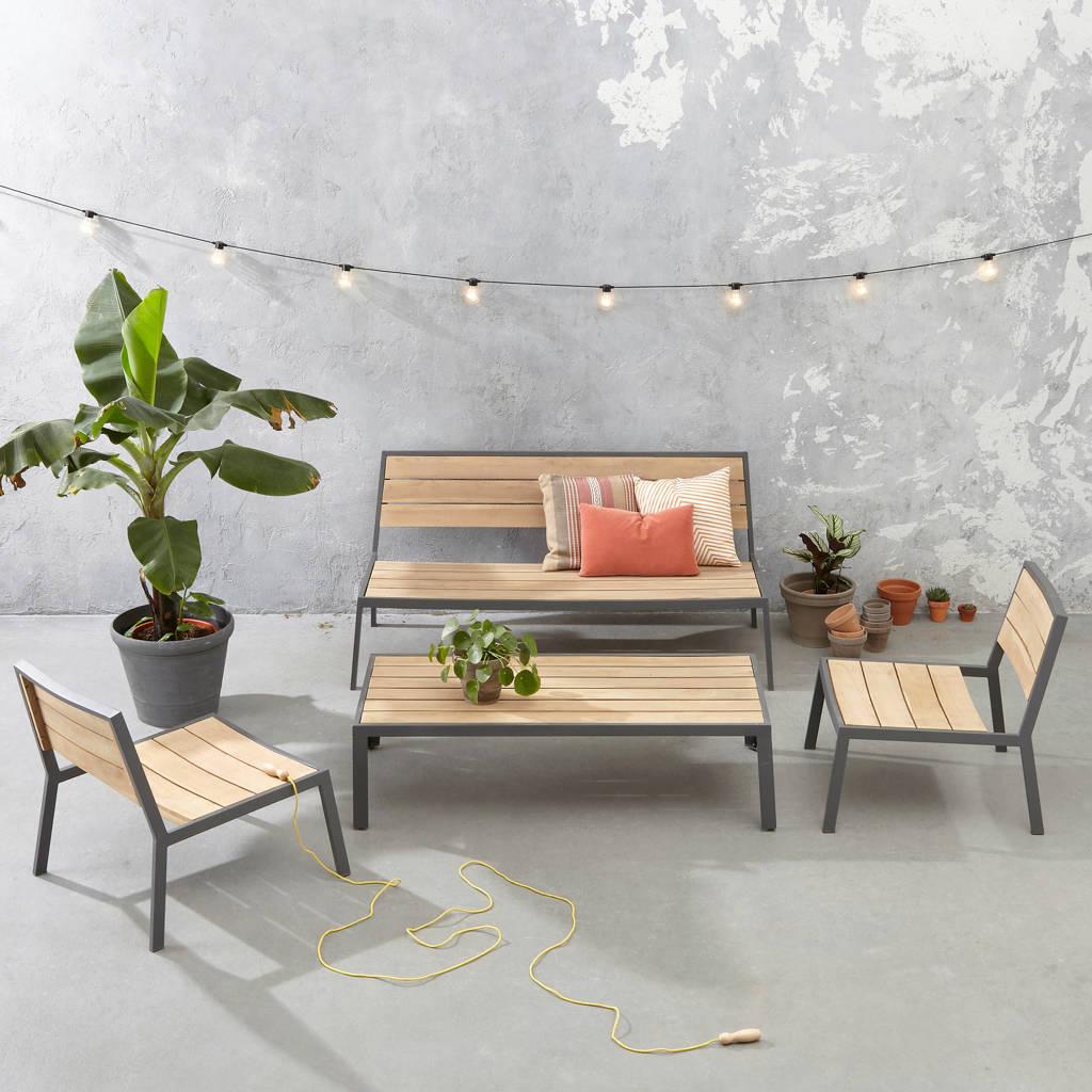 wehkamp home loungeset Miguel, Antraciet/Naturel
