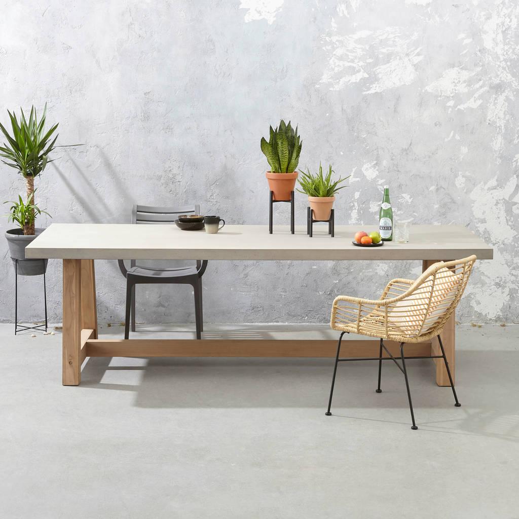 Wehkamp Home tuintafel Veltis ( 250x100 cm), Grijs/naturel