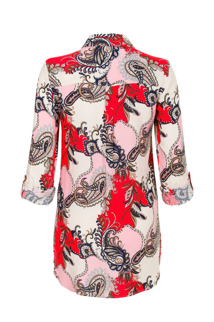 blouse over all Etam met print Miss rood Regulier Rx64q6E