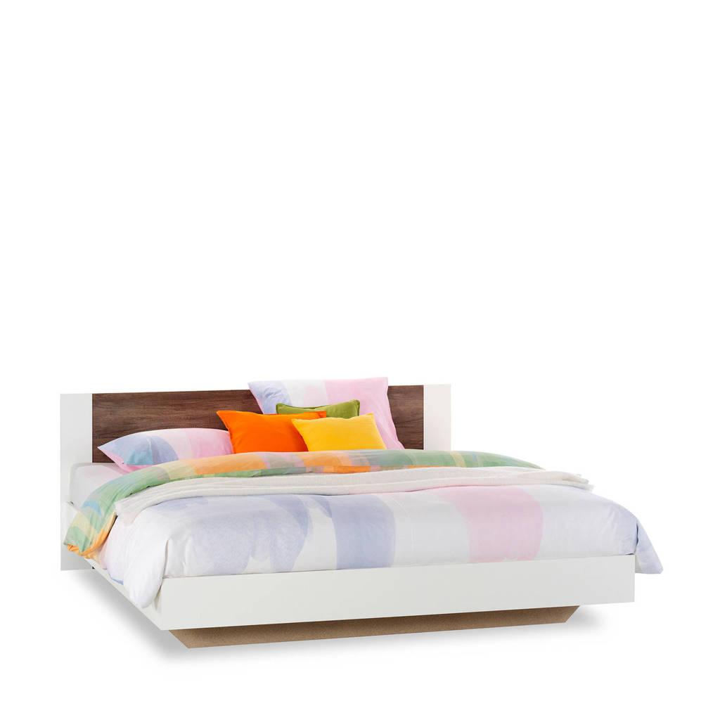 Beddenreus bed Oaklyn  (160x200 cm), Wit/donker eiken