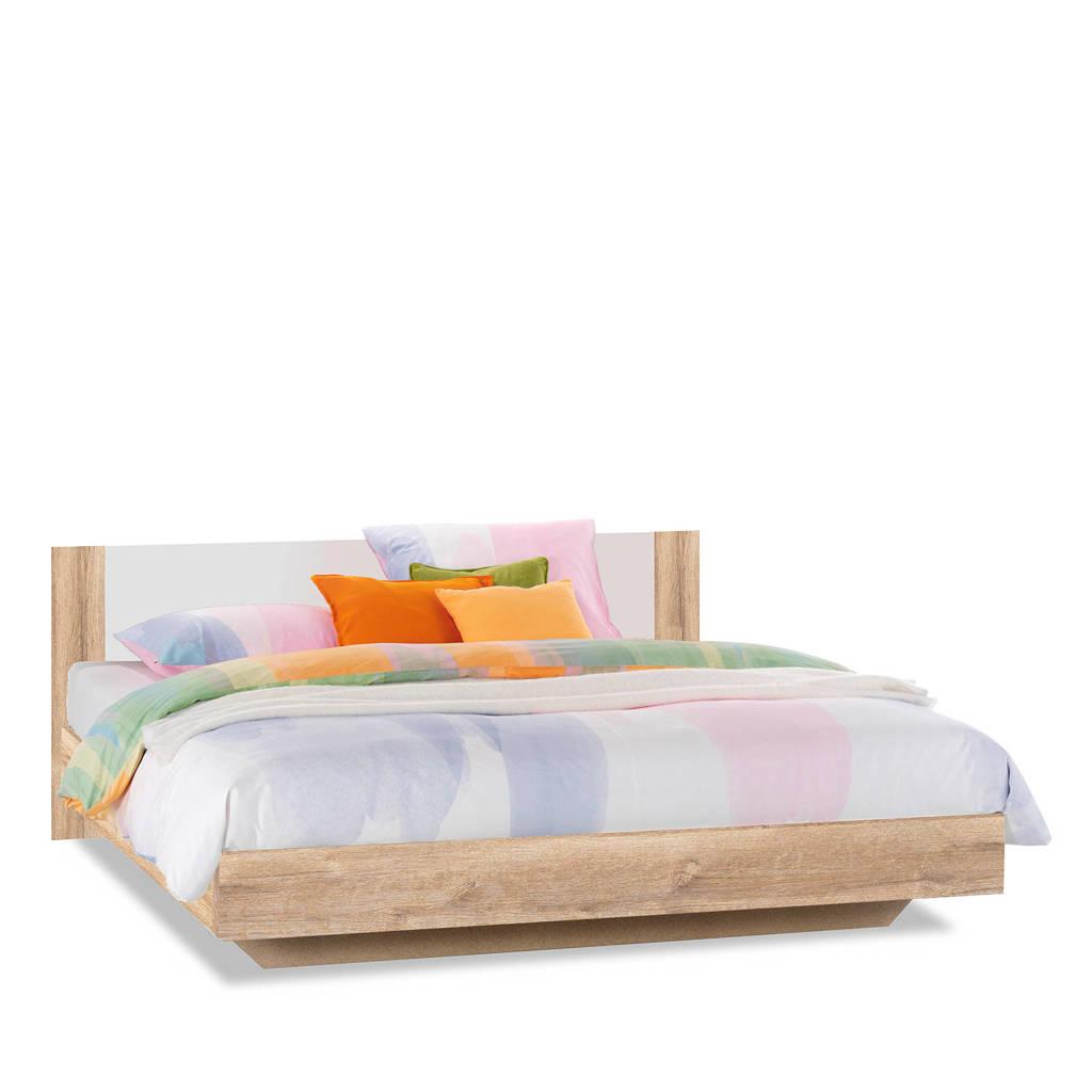 Beddenreus bed Oaklyn  (140x200 cm), Licht eiken/wit