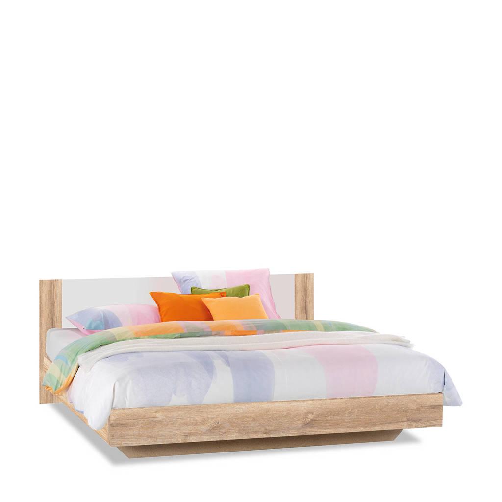 Beddenreus bed Oaklyn  (180x200 cm), Licht eiken/wit