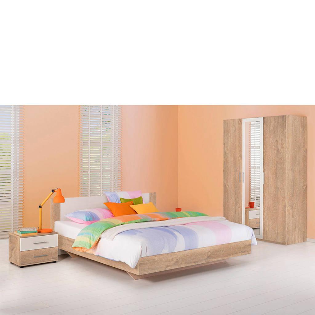 Beddenreus complete slaapkamer Oaklyn  (180x200 cm), Licht eiken/wit