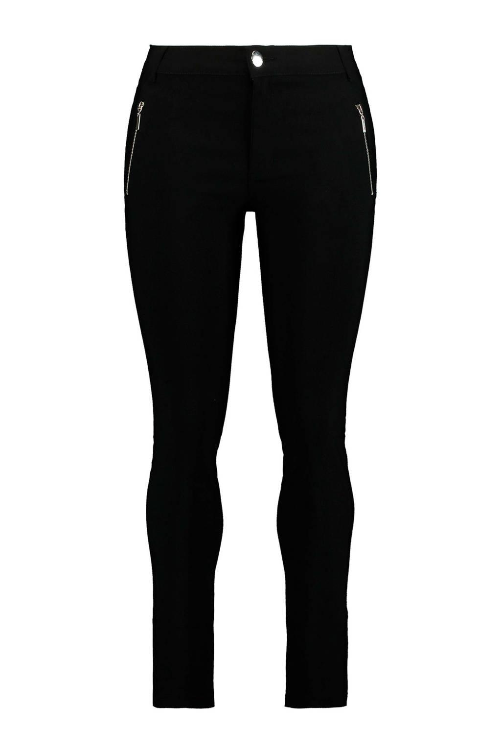 MS Mode skinny fit broek zwart, Zwart